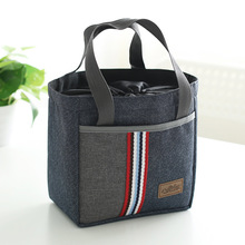 2017 promotional cheap insulated drawstring lunch tote cooler bag for kids food reusable ice carry bag