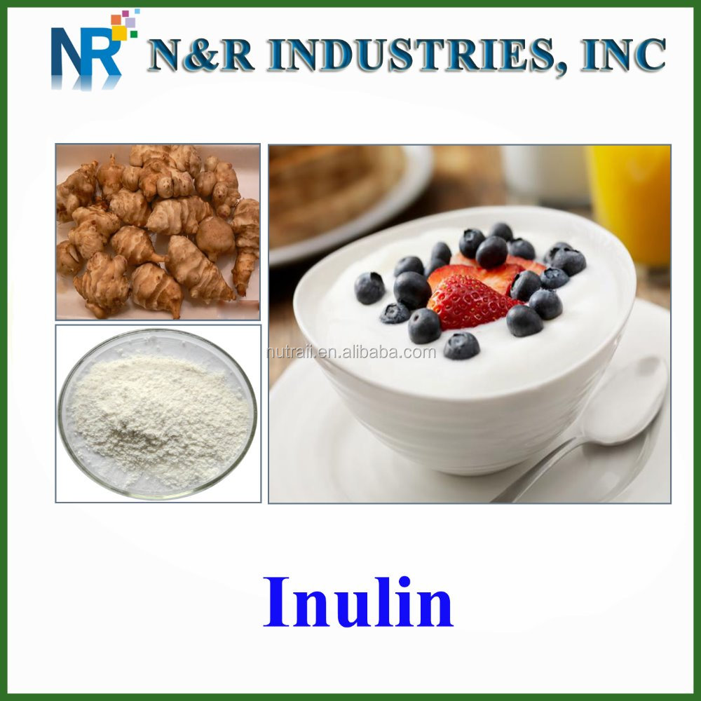 Food supplement soluble dietary fiber chicory root extract Inulin powder