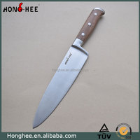 8 Inch Wooden Handle Stainless Steel 3Cr13 Chef Knife