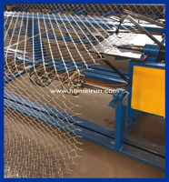 China Manufacture One Wire Feeding Automatic Chain Link fence iron net making machine