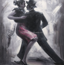 Living Room Decoration Modern Dancing People Oil Painting