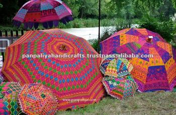 Indian parasols-Checkout our stunning collection of cotton Handheld Indian Parasols and Large and small Garden Indian Parasols