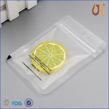 Custom printed Resealable Clear PVC Zipper Bags