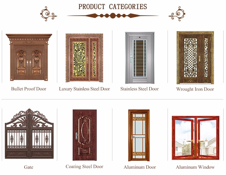 Burglary proof PVC foil coated steel doors with frame JHB142