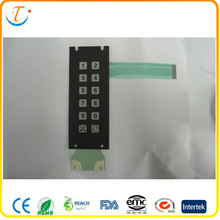 PET Heat Seal Connectors Membrane Switch Keypad with Single Sided Pressure Sensitive