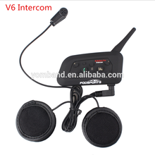 2018 Newest 1200m V6 motorcycle /motorcycle helmet bluetooth headset intercom with high quality