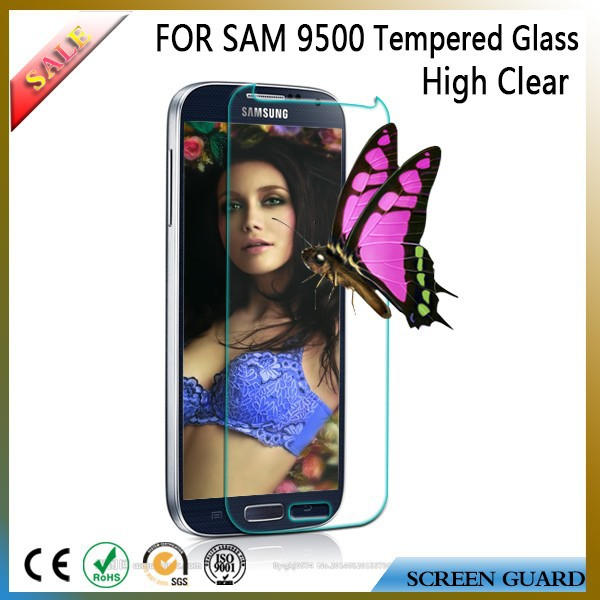 Super quality anti shock explosion proof tempered glass screen protector for mobile Samsung galaxy S4 9500