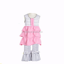 2016 children's fall boutique clothes Designer Suits Girls Ruffle Pants Sets Ruffle Pant Set For Girls