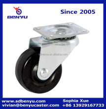Light duty durable industrial swivel hard rubber caster wheel