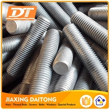 Din976 Metric Thread Stud Bolts Grade 4.8 8.8 10.9 12.9 Carbon/Stainless Steel Plain Black Zinc Plated HDG Threaded Rods