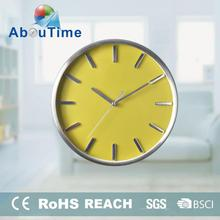 Shadow round aluminum cheap wall clocks with ROHS and CE