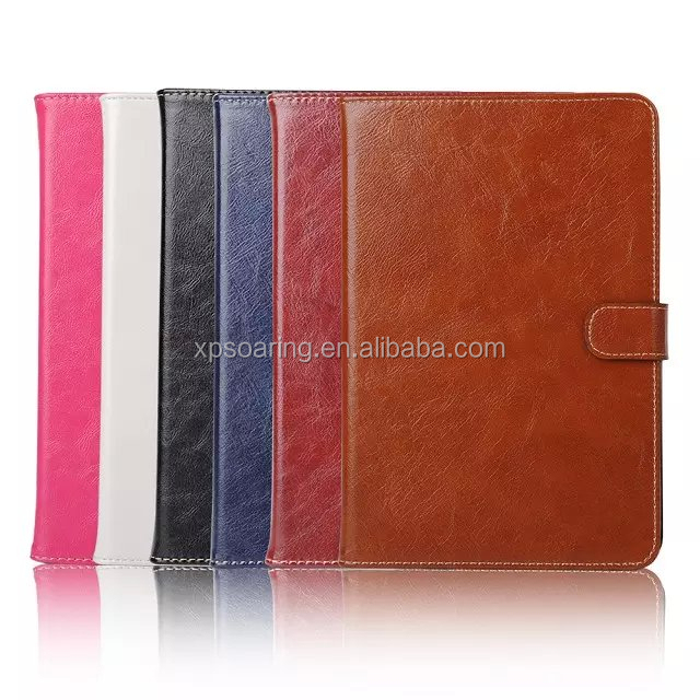 crazy horse skin leather case with card slots for ipad mini 4