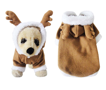 New pet clothes Christmas three-dimensional elk dog clothing autumn and winter transfiguration wholesale