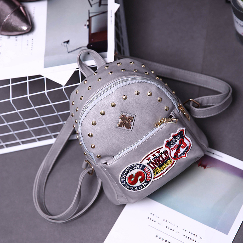 Women PU Leather Rivet Backpack New Fashion Backpack For Women