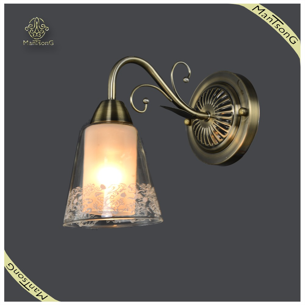2017 Hot Sale Industrial wall lamp Wrought Metal Ceiling Lamp Vintage Glass Wall Lamp