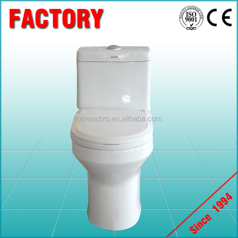 china wholesale ceramic floor mounted gravity flushing one piece toilet equipment