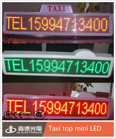 factory wholesale led taxi display / single color taxi roof top advertising signs