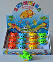 2015 Hot selling wind up child toys for promotion,plastic wind up frog toy