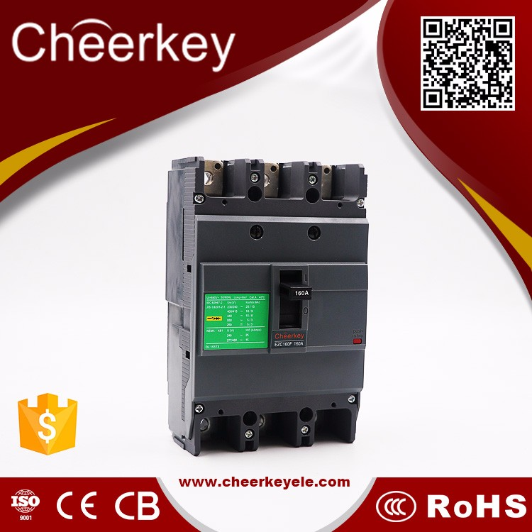 CEZC 100F 100A 3P air circuit breaker mccb switch 3p shunt trip coil electrical changeover switch