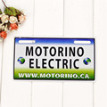 Motorino Electric License Plate Metal Car Plate