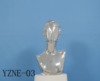Fashion store window display fiberglas Electroplating mannequin Head