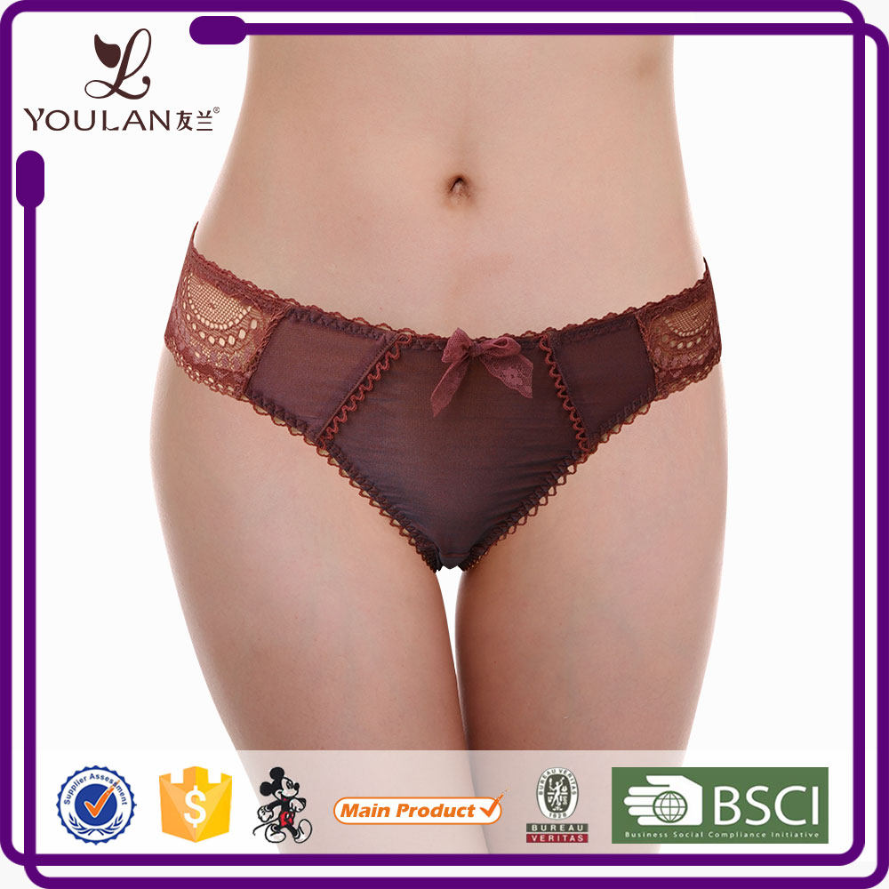 For Sale Pretty Cotton Ladies Thong Brand Name Women Underwear