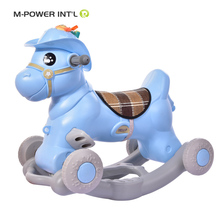 New Baby Children Plastic Animal Horse Toys,Custom Kids Spring Rocking Horse With Wheels