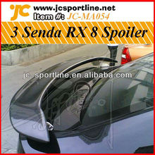 3 Door Carbon Fiber RX For Mazda ,Car Rear Trunk Spoiler