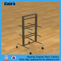 most popular products china floor metal carpet display rack