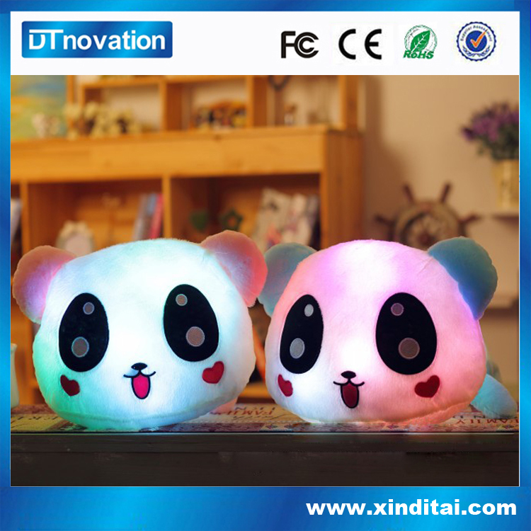 Electric i love you light up pillow with panda lashing module
