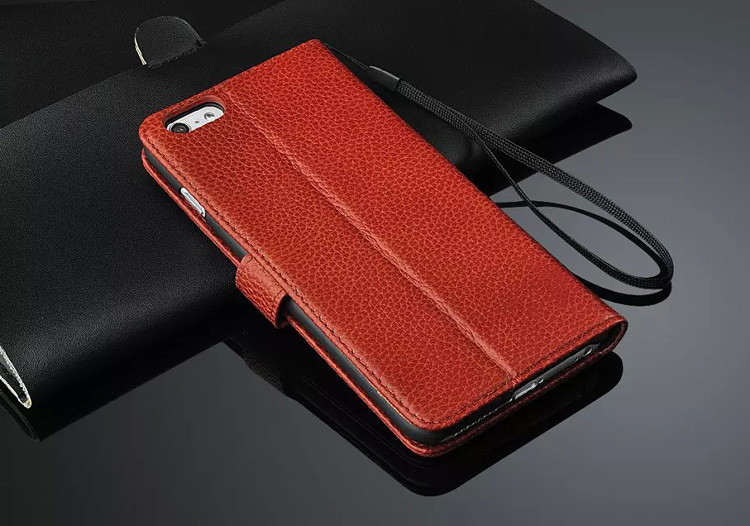 wp1034 Leather Wallet Phone Case with Flap Cover for iPhone 6/6 Plus