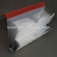 Plastic expanding file case with carry handle