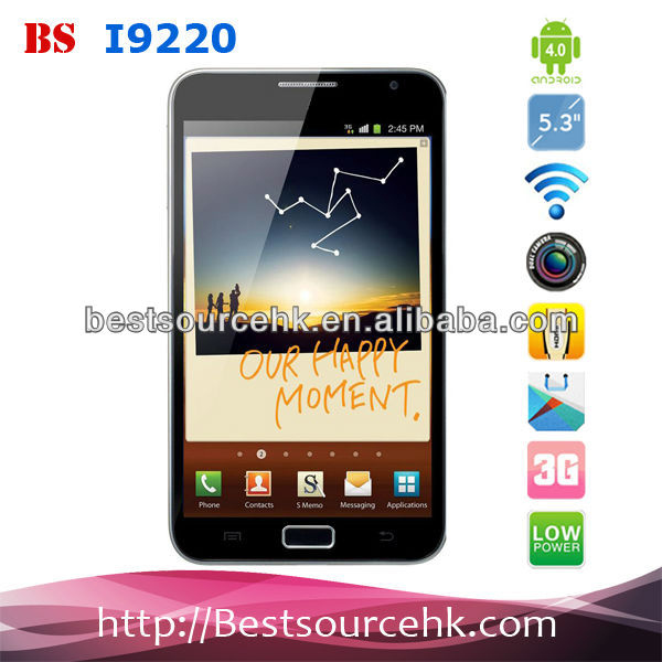 Dual core Dual camera Android4.1 mobile phone 3G Smart phone i9220(N9000)