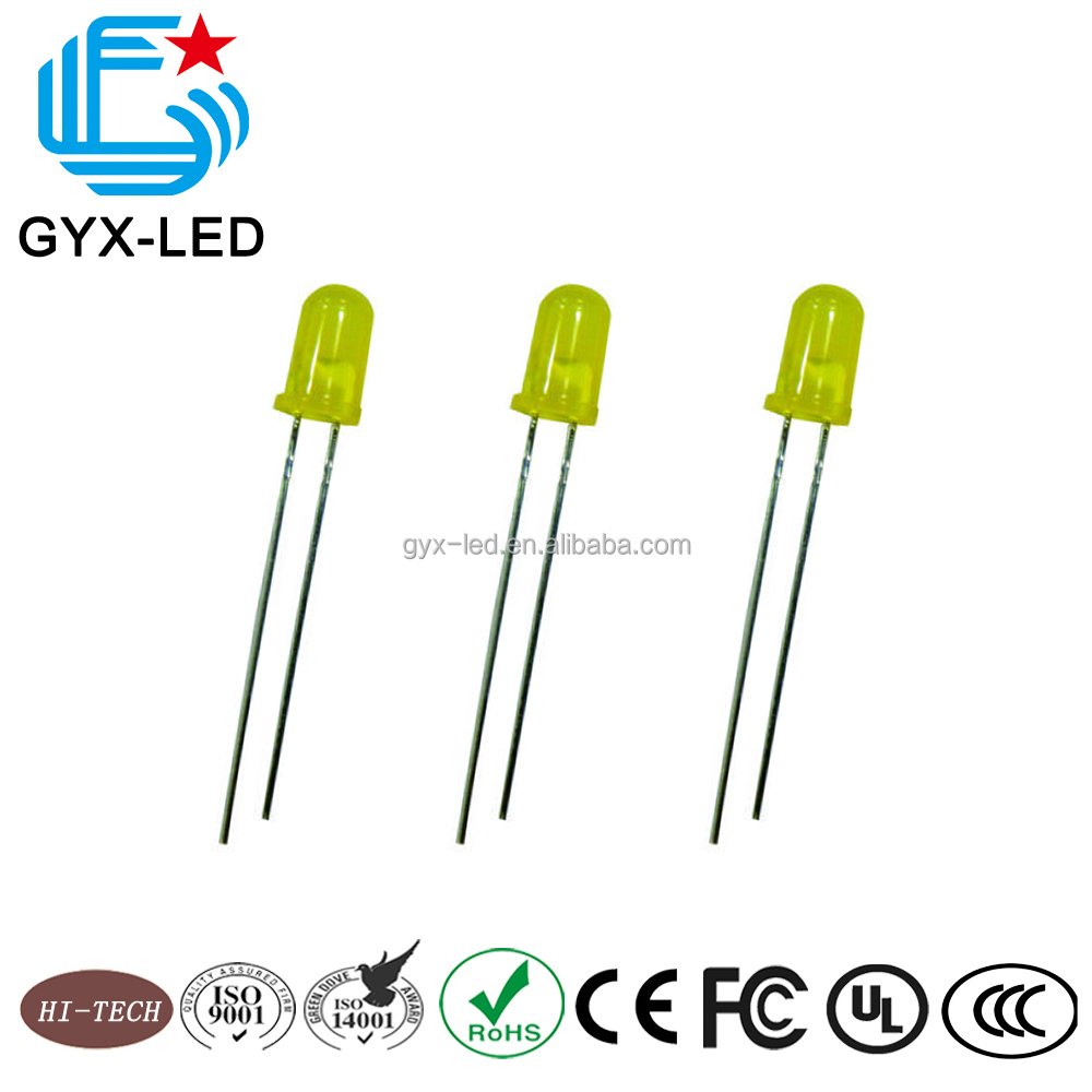 super brightness 5mm through hole yellow led