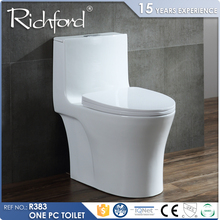 Insulating Material One-piece S-Trap white ceramic toilet from Chinese supplier