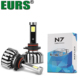 EURS super hot sale brightness headlamp H1 H4 9005 8000lm COB 80w 12v ip68 car headlight N7 H7 fan led