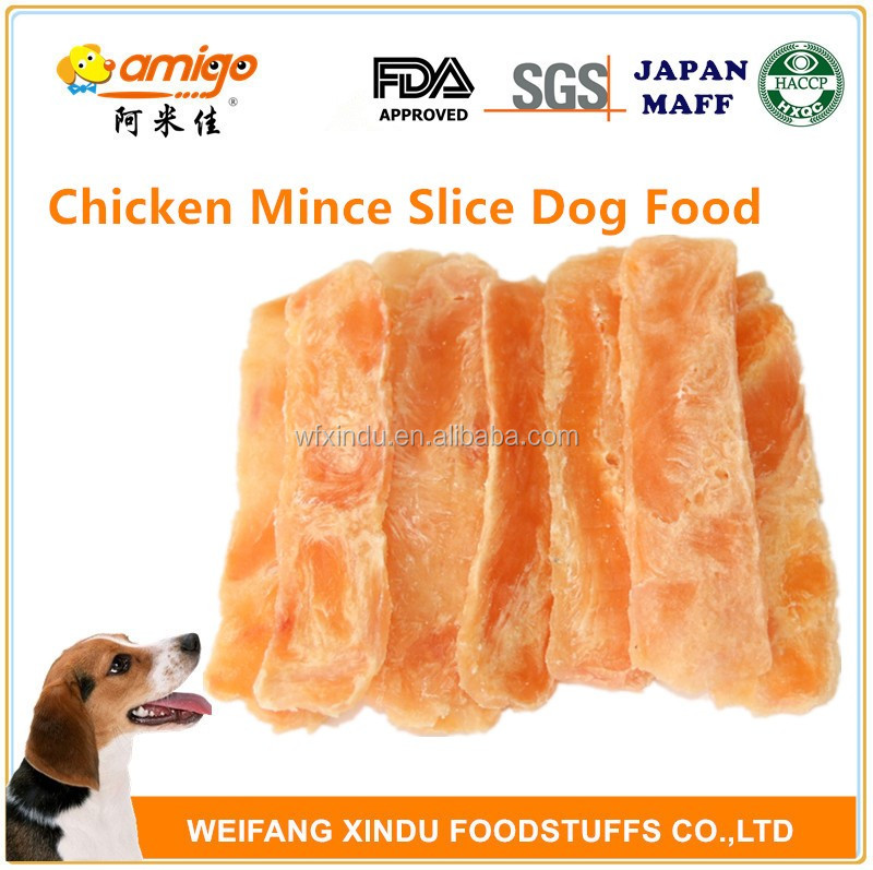 chicken slice with starch Dogs Food by nature Chicken meat