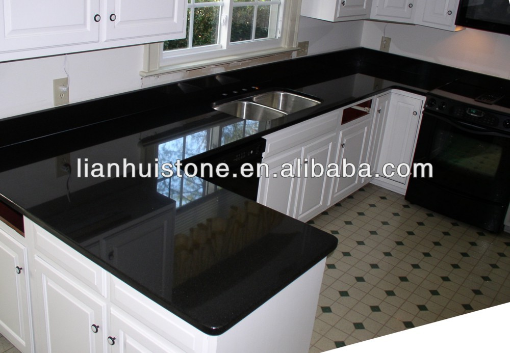 Wholesale prefab laminated Absolute black kitchen countertop