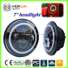 Hot sales led motorcycle headlight h11 led headlight Projectors LED Headlight For Patriot Liberty Toyota FJ With Halo