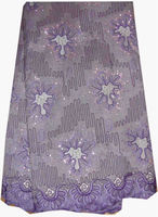 CL4016-purple 2013 new new style rope embroidery design wedding dress lace fabric