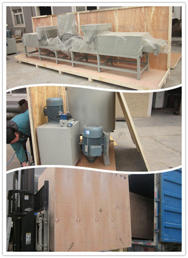 Working In Sawdust ~ Patented wood working sawdust block production line