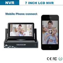 h264 4 channel intelligent DVR/HVR/NVR display with 7inch screen