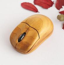 custom logo wood bamboo computer mouse promotional gift