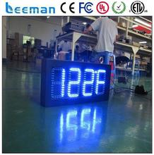 10inch single side led clock temperature display screen ali p6/p5/p4 indoor led display full xxx vedio low voltage led clock