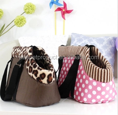New Leopard/Dots Portable Pet Dog Cat Travel Carrier Tote Shoulder Bag Handbag