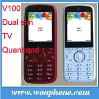 Cheapest TV Mobile Phone WV100 with Dual Sim