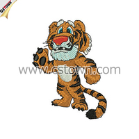 Tiger custom embroidery patch garment accessory