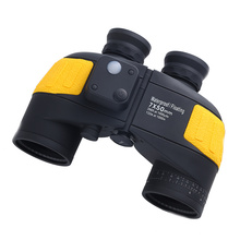 7x50 Waterproof Floating Marine Binocular with Internal Rangefinder & Compass for Navigation,Boating ,Water Sports