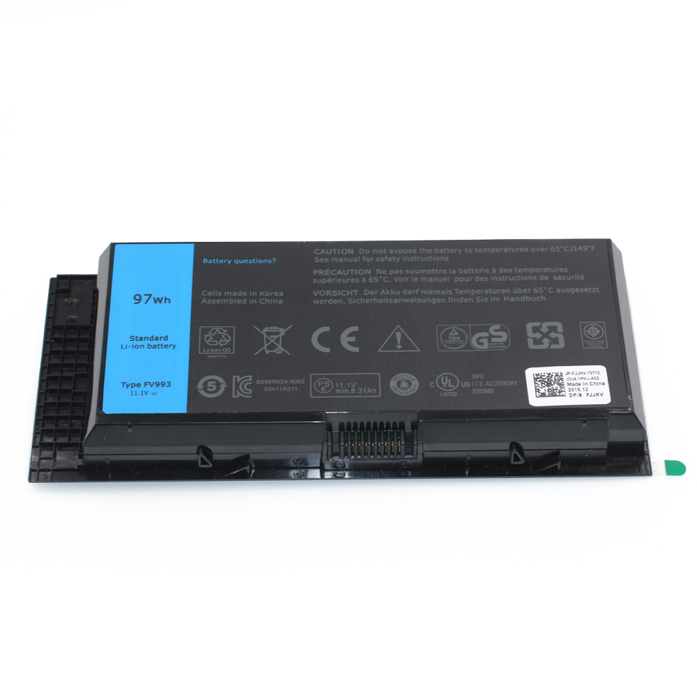 97Wh Replacement Laptop Battery Type FV993 7DWMT Battery Charger For Dell M4600 M6600