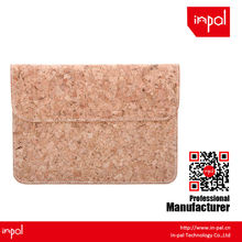 European stylish and portable cork leather envelope Clutch case for ipad mini